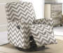 Truffle Chevron Swivel Glider Recliner lifestyle