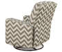 Truffle Chevron Swivel Glider Recliner silo back view