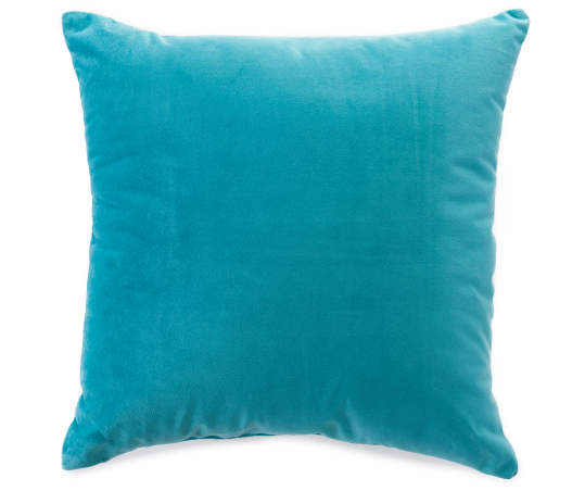 Turquoise Chenille Throw Pillow | Big Lots