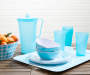 Turquoise Gingham Plaid Melamine Collection