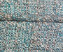 Turquoise High Back Deluxe Outdoor Chair Cushion Textured Swatch