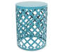 Turquoise Metal Garden Table 16 inches by 22 inches Silo