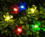 Twinkling Flower Battery Operated Light Set 20 Count Lifestyle Image Illuminated