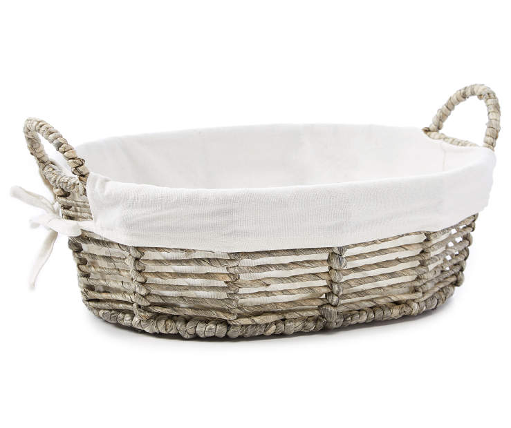 Twisted Maize Oval Tray with Natural Liner silo front