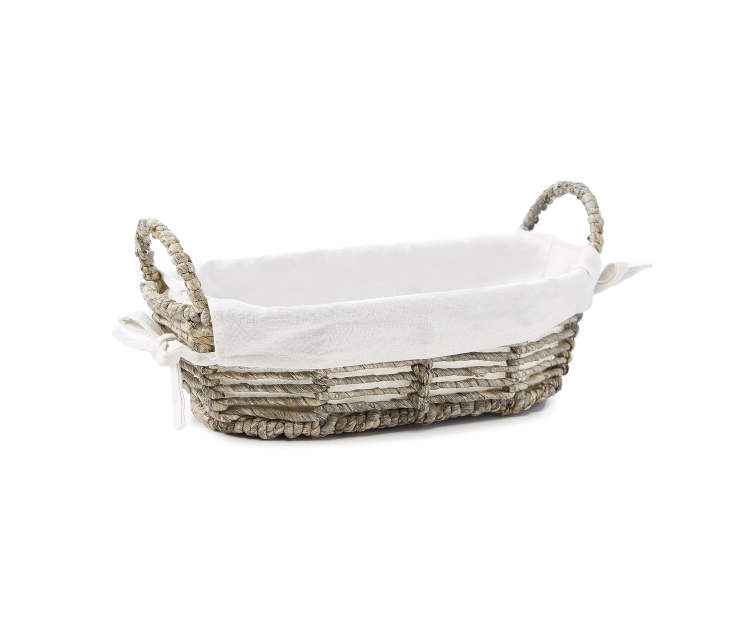 Twisted Maize Small Oval Tray with Natural Liner silo front