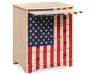 U S A  American Flag Accent Drawer Chest silo angled with open draw