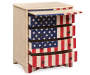 U S A  American Flag Accent Drawer Chest silo angled with open draws