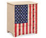 U S A  American Flag Accent Drawer Chest silo angled