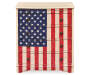 U S A  American Flag Accent Drawer Chest silo front