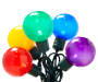 Ultra Bright Multi Color LED G40 Globe Light Set 35 Count Bundled Out of Package Silo Image