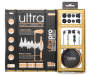 Ultra Pro White and Gold Earbuds Whole Package Silo