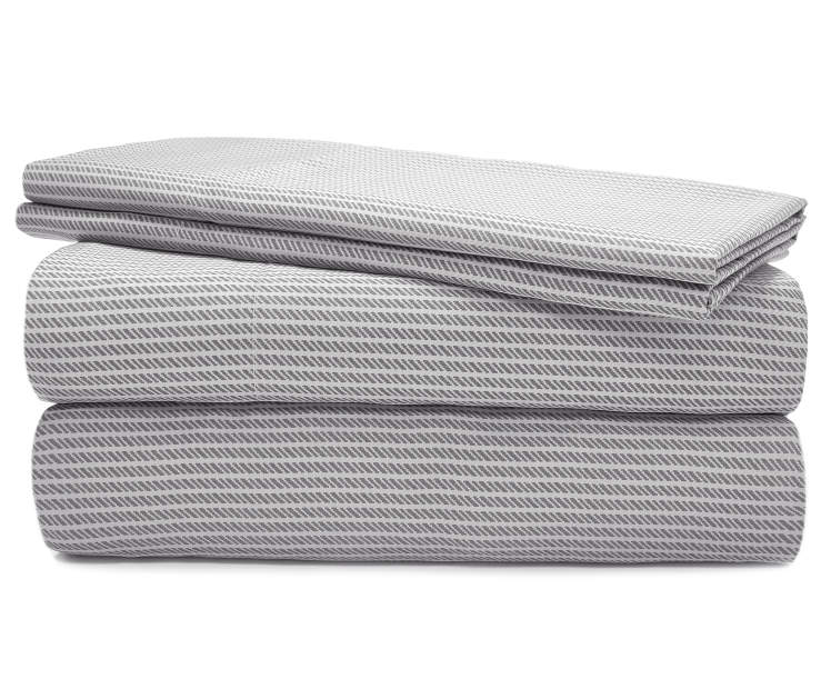 Ultracool Gray Stripe Queen 620 Thread Count 4 Piece Cooling Sheet Set silo front