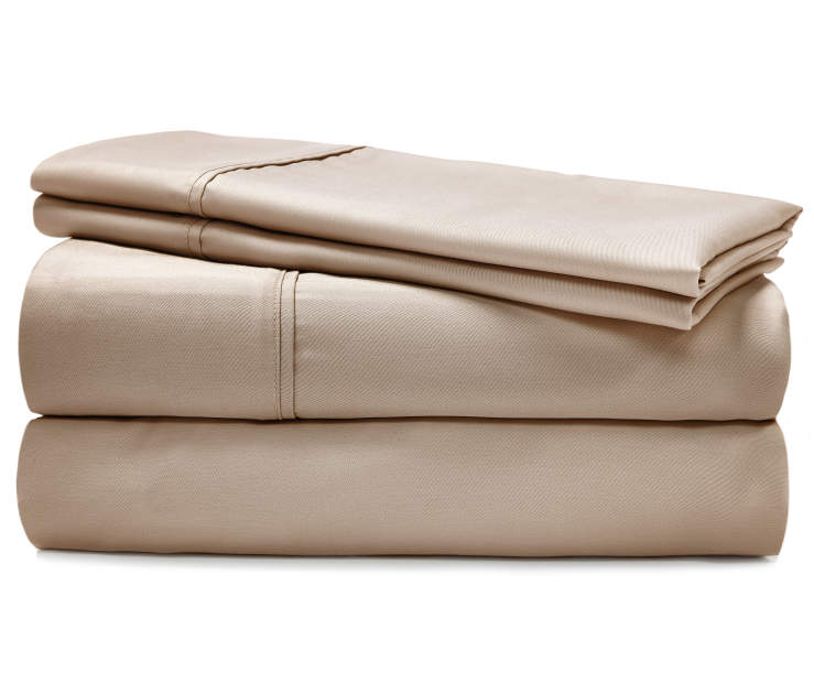 Ultracool Tan King 620 Thread Count 4 Piece Cooling Sheet Set silo front