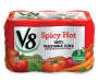 V8 Spicy Hot 100% Vegetable Juice, 11.5 oz. Can (Pack of 6)