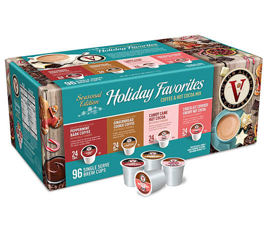 Holiday Favorites Coffee & Cocoa Variety 96-Pack Single Serve Brew Cups