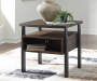 VAILBRY BROWN END TABLE