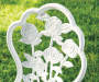VINTAGE ROSE WHITE CAST BISTRO SET