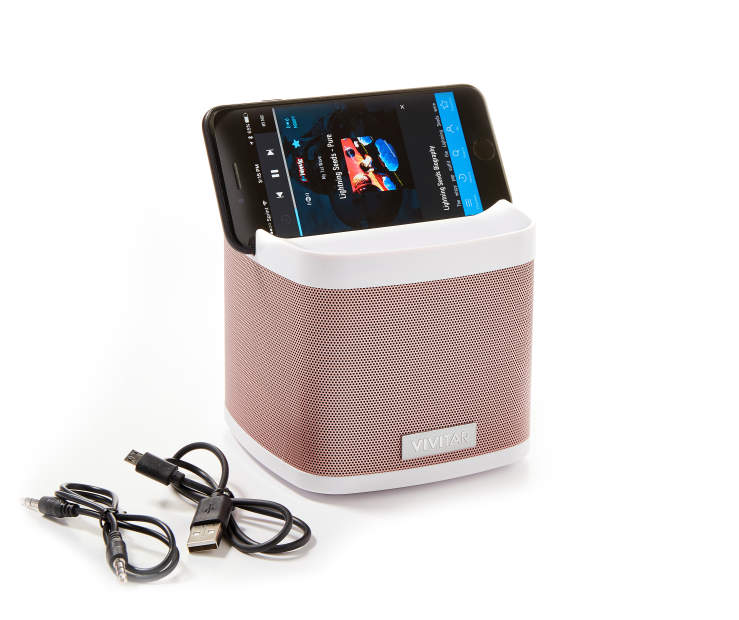 VIVITAR ROSE GOLD MTLC BT DOCK SPEAKER