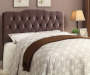 Velvet Slate Button Tufted Queen Headboard bedroom setting