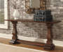 Vennilux Brown Console Table lifestyle