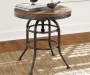 Vennilux Brown and Black Round End Table lifestyle