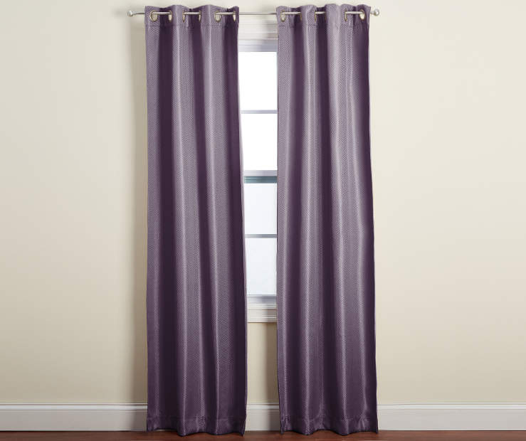 Ventura Purple Blackout Curtain Panel Pair 84 inches Window Lifestyle
