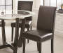 Verano Black Dining Chairs 2 Pack Lifestyle