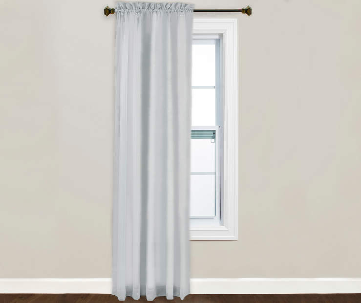 Victoria Charcoal Sheer Curtain Panel 84 Inches on Window Lifestyle Image