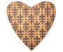 Vine Pattern Carved Wood Heart Wall Decor silo front
