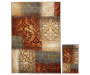 Vintage Patchwork Accent and Area 2 Piece Rug Set silo front