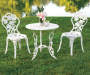 Vintage Rose Bistro Set Outdoor Lifestyle Image