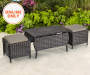 WESTWOOD ALL WEATHER WICKER COFFEE TABLE WITH OTTOMANS