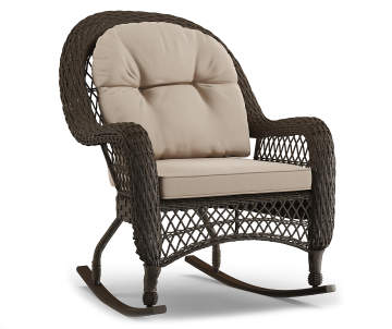 Wilson Fisher Westwood All Weather Wicker Cushioned Patio Rocker Chair Lots