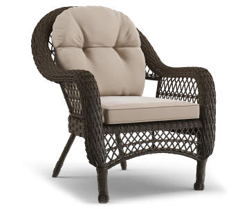 Wilson Fisher Westwood All Weather Wicker Cushioned Patio Chair Lots