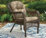 WESTWOOD RESIN WICKER CHAIR W CUSHIONS