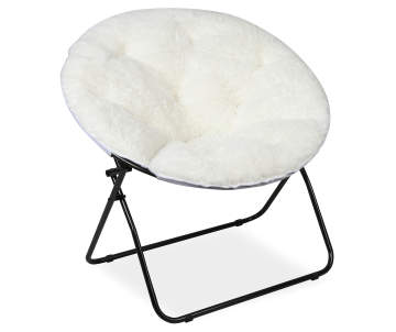 Just Home White Dish Chair