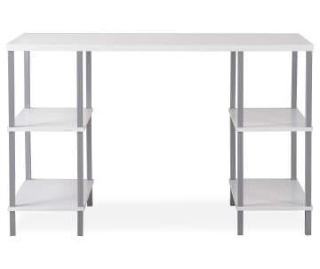 Just Home White 4-Shelf Trestle Desk Deals