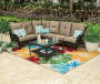 WILSON FISHER PATIO RUG ANEMONE 6X9