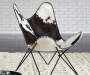 WISMAR BLACK AND WHITE ACCENT CHAIR