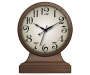 Walnut Tabletop Clock 9 Inches Front View Silo Image
