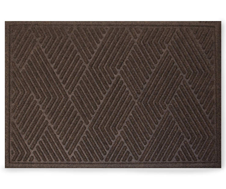 Walnut Vanguard Textured Pattern Doormat 18 Inches by 24 Inches Overhead View Silo Image