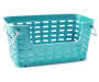 Weave Basket w/Handles Large Winter Teal