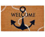 Welcome Anchor Coir Outdoor Doormat 18 inch x 30 inch silo top view