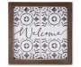 Welcome Framed Wall Plaque silo front