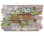 Welcome Friends Owl Branch Outdoor Doormat 18 inch x 30 inch silo front