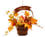 Welcome Harvest Floral Basket Wall Decor silo front