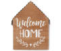 Welcome Home Wooden House Plaque silo front