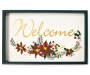 Welcome Poinsettia Box Plaque silo front
