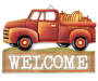 Welcome Pumpkin Truck Wooden Wall Decor silo front