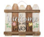 Welcome to My Garden Picket Fence Wall Decor silo front